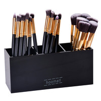 LASPERAL Black 3Grids Makeup Organizer Brushes Holder Acrylic Storage Box Women Home Sundries Cosmetic Accessories 20x7x8.8cm