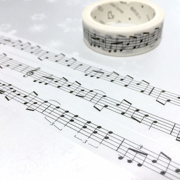 music note washi tape 7M love song music note masking tape music theme piano music sticker tape music day music fun decor planner sticker