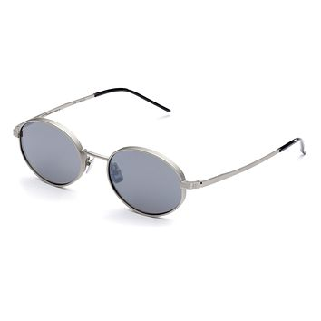 Italia Independent - Francis Silver Sunglasses / Silver Mirror Lenses
