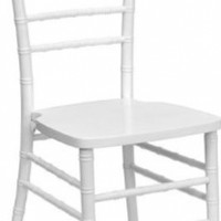 Flash Furniture YT-YJA13-WH-GG Flash Elegance Supreme White Wood Chiavari Chair, White