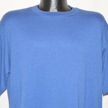 80s Jerzees Blank Blue t-shirt Extra Large