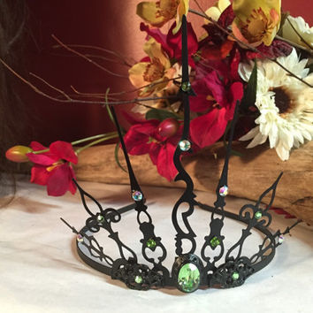 Evil fairy queen elven crown circlet steampunk Gothic Tiara