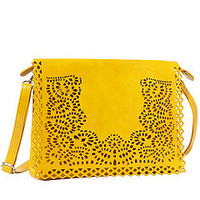 Big Buddha Brooklyn Yellow Vegan Crossbody Bag