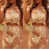 Fantasy Lace Two Piece Dress