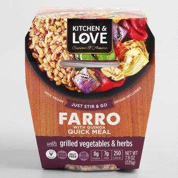 Kitchen & Love Grilled Vegetable and Farro Cup Set of 6