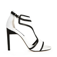 Senso Tabby White T-Bar Heeled Sandals