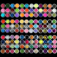 12 18 120 x Colors Glitter powder Beads decoration for Nail Art Acrylic UV Gel