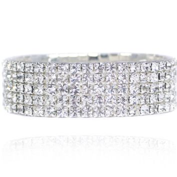 'Bombshell' Crystal Bangle - 5 Row