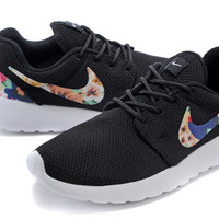 Nike Roshe Run (Floral Print Black/Blue)