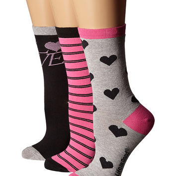Life is good Valentine's Day Crew Sock 3-Pack
