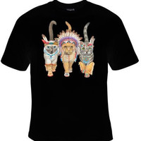 native american cat INDIAN CATS T-shirt clothes pets T Shirts Tees, Tee T-Shirt  pets lovers animals