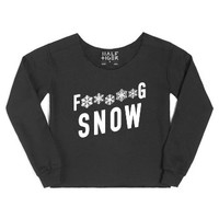 F*****g Snow-Female Black Hoodie