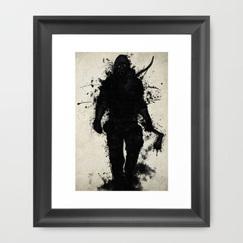 Apocalypse Hunter Framed Art Print by Nicklas Gustafsson