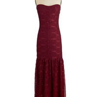 ModCloth Long Strapless Maxi Quintessence of Chic Dress