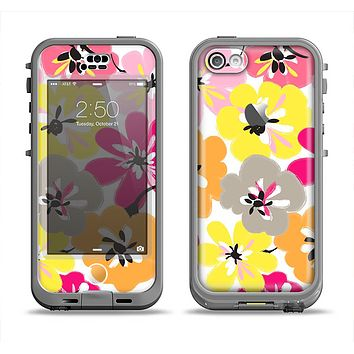 The Bright Summer Brushed Flowers  Apple iPhone 5c LifeProof Nuud Case Skin Set