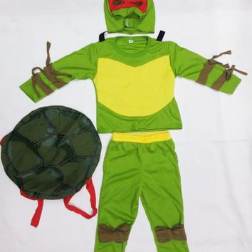three styles 3-7 years Cosplay Party boy  role play clothing kid  leo/Baby Halloween Costume (Turtle shell can be activity)