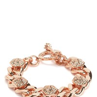 PAVE OCTAGON AND CHAIN BRACELET