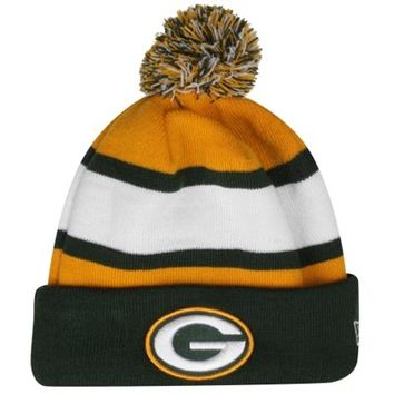New Era Green Bay Packers 2013 On-Field Player Sideline Sport Knit Hat - Green/Gold