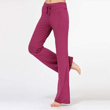 Modal Cotton Women Pants Trousers Solid Comfort  Exercise Casual Sweatpants