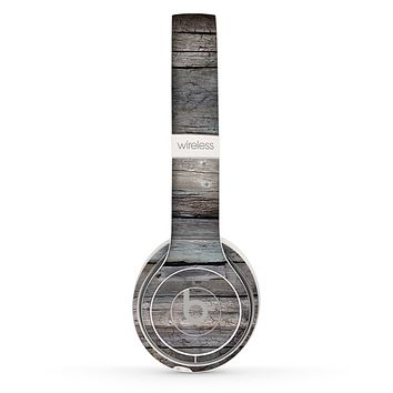 The Cracked Wooden Planks Skin Set for the Beats by Dre Solo 2 Wireless Headphones