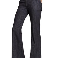 Old Navy Womens Wide Leg Trouser Jeans-- 30.5, 33.5, 34.5 Inch Inseams