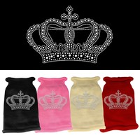 Rhinestone Knit Pet Sweater: Crown