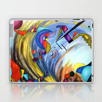 WIND abstract expressionism acrylic painting Laptop & iPad Skin by Heaven7