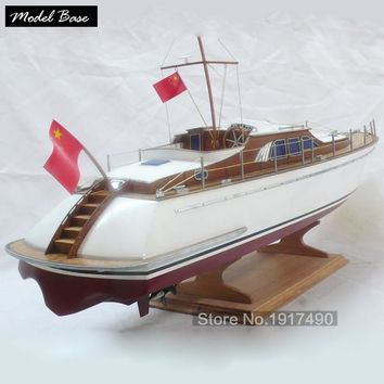 "Wooden Ship Models Kits DIY Educational Model Boats Wooden 3d Laser Cut Scale 1/32 Luxury Yacht  Wooden Model Kit ""Blue Knights"""