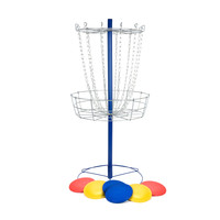 Metal Disc Frisbee Golf Goal Set with 6 Discs | Overstock.com Shopping - The Best Deals on Lawn Games