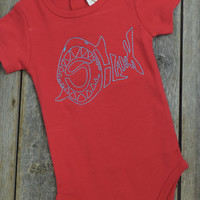 Boys Shark Onsie by Mandy Lou {Red}