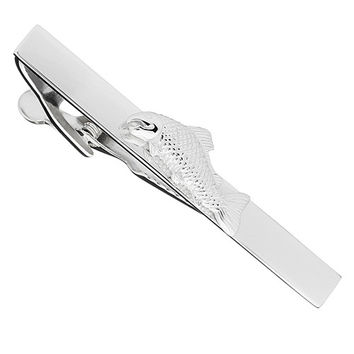 Sterling Silver Fish Tie Bar