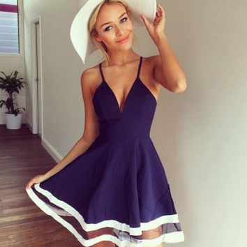 Sexy Womens Casual Sleeveless Party Evening Cocktail Short Mini Dress