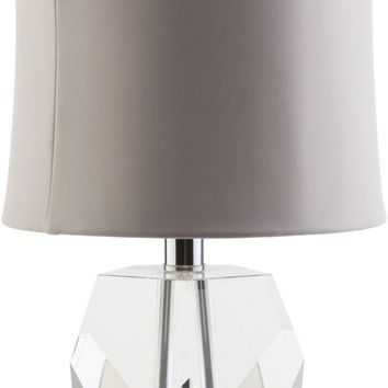 Miramar Glam Table Lamp Clear taupe