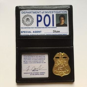 Supernatural SPN Suspect Tracker characters POI Metal ID card Holder Shaw Root/Dean special unique Fans Essentials ID Customized