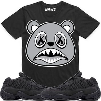 SHADOW BAWS Sneaker Tees Shirt - Yeezy 500 Utility Black