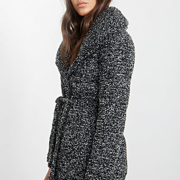 Shawl Collar Bouclé Coat