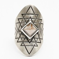 Womens Yantra Ring