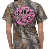 Farm Life Realtree Pink Camo ShirtPurchase