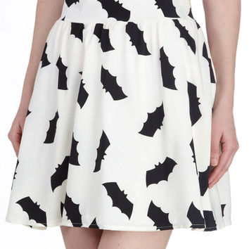 Bats All, Folks! Skirt | Mod Retro Vintage Skirts | ModCloth.com