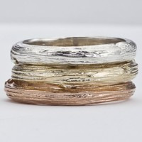 Wedding Band for Men/Women  -  Branch Design in Gold - As seen in Huffington Post Weddings and Etsy Wedding Showcase