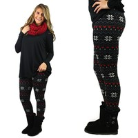 Nighttime Flurries Fleece Lined Leggings