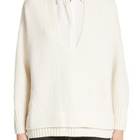 Burberry Santerno Wool & Cashmere Cable Knit Sweater   Nordstrom