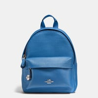 Mini Campus Backpack in Polished Pebble Leather