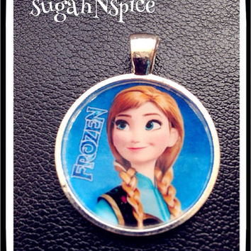 Disney Frozen Anna necklace pendant Inspired Pendant for Chunky Bubblegum necklaces Frozen Pendant
