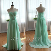Sweetheart elegant  floor-length chiffon dress - multicolors in from Your Closets