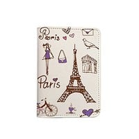 Paris Effel Tower Passport Holder - Leather Passport Cover - Travel Accessory- Travel Wallet for Women and Men_LOKISHOP