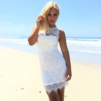 Havana Lace Dress In White