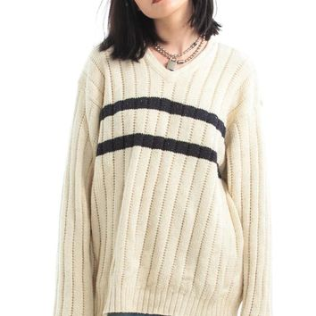 Vintage 90's Ralph Lauren Jumbo Stripe Sweater - One Size Fits Many