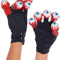 Men's Beetlejuice Adult Gloves with Eyeballs