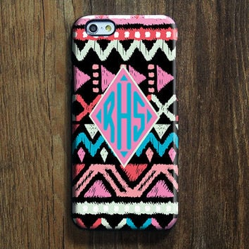 Native American Monogram iPhone 6 Case iPhone 6 plus Case Custom iPhone 5S iPhone 5C Case iPhone 4S Case Ethnic Galaxy S6 Edge S5 Case 121
